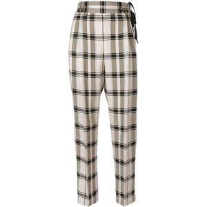 3.1 Phillip Lim Silk Check Trousers Size 2